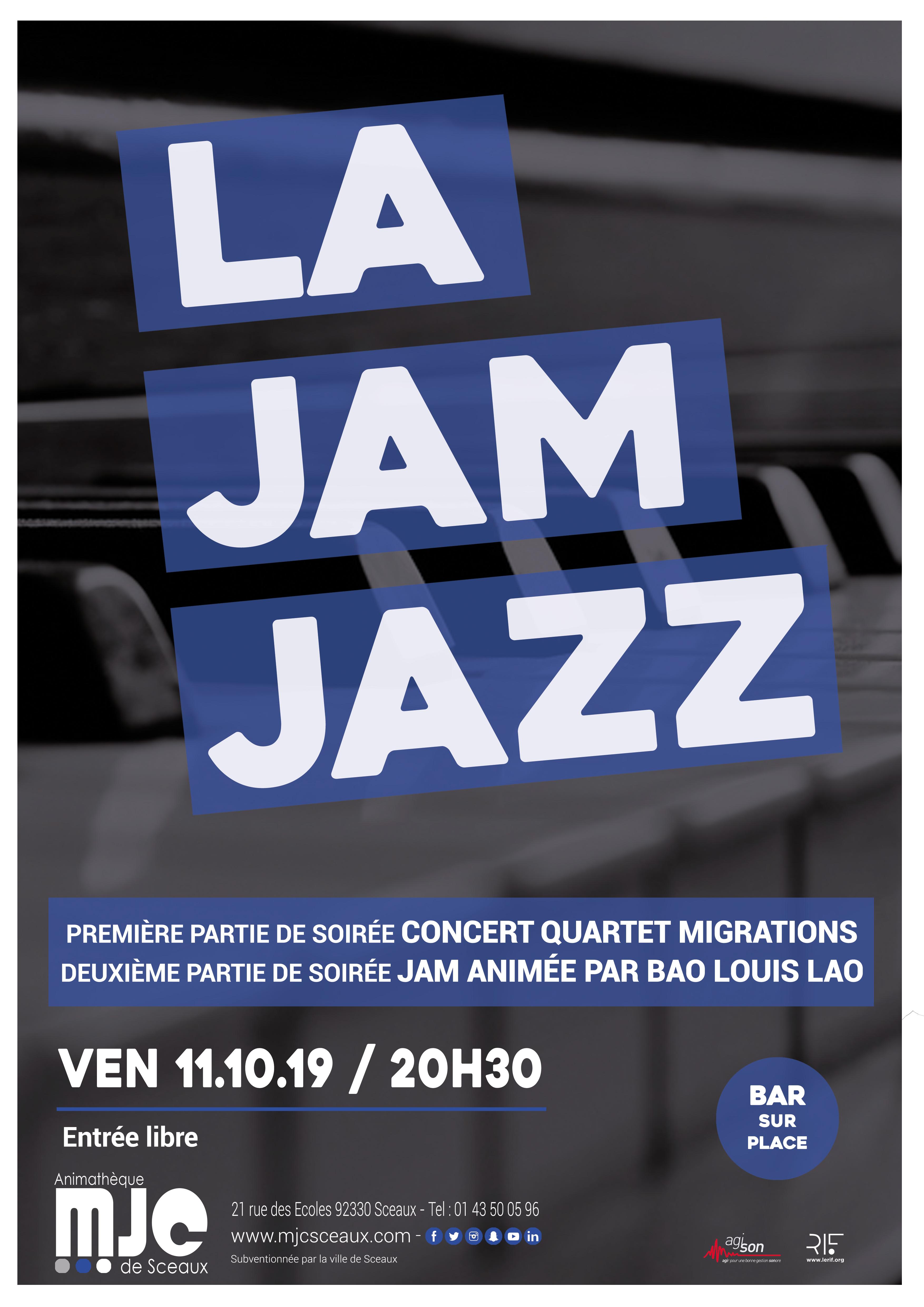 2019 1011 Affiche jam jazz